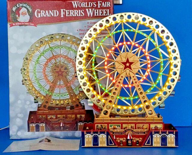 Mr. Christmas Worlds Fair Grand Ferris Wheel In Box Complete Excellent