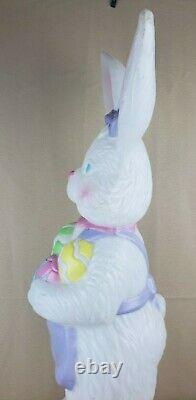 Mrs. Easter Bunny Rabbit Egg Blow Mold 34 VTG Decor TPI 1996 Rare AS IS NOLIGHT