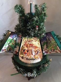 Musical Christmas Animated Tree SEE VIDEO Dancing Snowmen Winter Wonderland VTG
