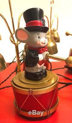 NEW 1992 Mr Christmas Santa's Marching Band MIce Top Hats 35 Songs Orig Box