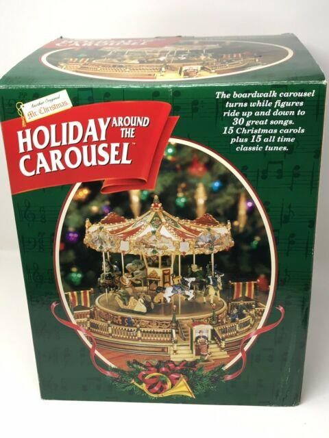 New 1997 Mr. Christmas Holiday Around The Carousel 30 Songs Lights & Moves