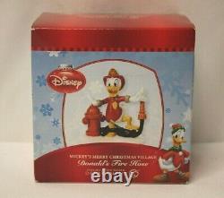 NEW Dept 56 Disney Village Mickeys Merry Christmas Village DONALD'S FIRE HOSE