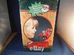 NEW Enesco Santa's Phone Santa Claus Is Coming Motion/Recordable Music Box NIB