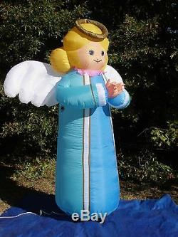 NEW GEMMY 8' TALL Lighted Prototype Christmas BlLUE ANGEL Inflatable Airblown