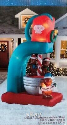 NEW GEMMY Lighted Animated Gingerbread Mixer Christmas Inflatable Airblown