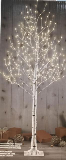 New Indoor/outdoor 7 Ft 280 Led Birch Tree Steady/twinkle Lights Christmas Decor