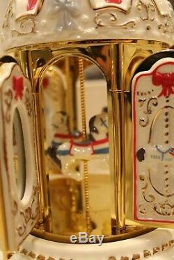NEW Mr. Christmas 30 Song Musical Porcelain Carousel Carillon Music Box