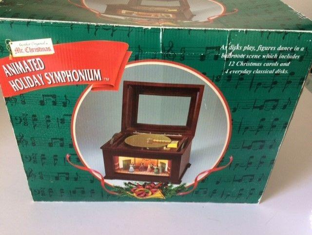 New Mr. Christmas Animated Holiday Symphonium Victorian Ballroom Music Box