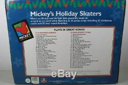 NEW Mr Christmas Disney Mickey's Holiday Skaters Actions/Lights 50 Tune Musical