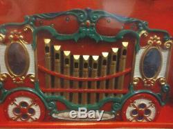 NEW Mr Christmas Holiday Carousel Musical 6 Horses Circus Organ 21 Songs 1992
