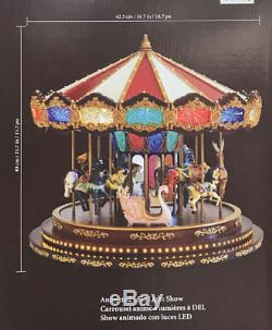 NEW Mr Christmas Royal Marquee Grand Carousel Music Box LED Light Plays 40 Songs