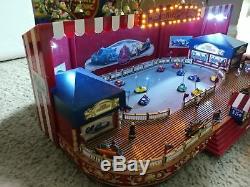 NEW RARE MR CHRISTMAS Worlds Fair Bumper Cars Action/Lights Music Box NIB