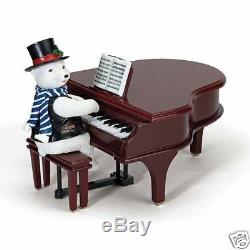 NIB Mr Christmas Gold Label Collection Play It Again! Polar Bear #78881