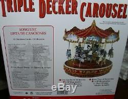 NIB Mr. Christmas Triple Decker Carousel, 2014