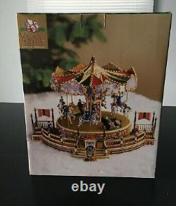 NOS Mr. Christmas 1998 Village Square Holiday Around the Carousel Musical