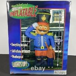NOS RARE 8' Tall Gemmy Toy Soldier Lighted Christmas Airblown Inflatable Sealed