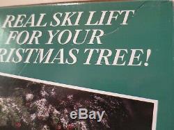 NOS Sealed 1992 Mr Christmas SANTA'S SKI SLOPE for Christmas Tree NEW OLD STOCK