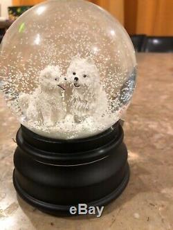 NWT Ciao Ciao American Eskimo Samoyed Spitz Dog Musical Snow Globe