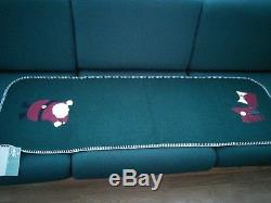 NWT HTF Rare Woof & Poof Green Christmas Table Runner
