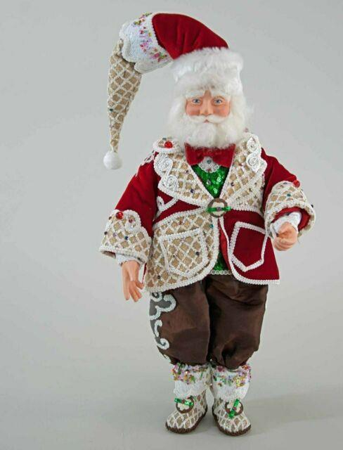 Nwt Katherine's Collection Sweet Christmas Santa Doll 19 28-828252