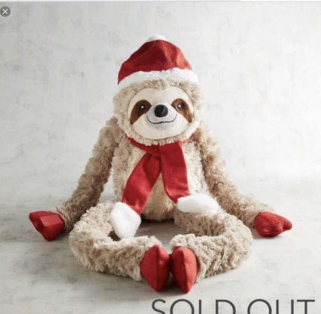 Nwt Scully The Sloth Stuffed Plush Animal By Pier 1 Sold Out One Christmas