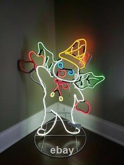 Neon Mr Bingle Light Up Christmas Decoration, NIB, 24x29.5, Great Piece