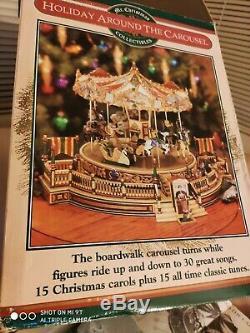 New 1997 Mr Christmas Holiday Around The Carousel Animated Musical 30 Songs