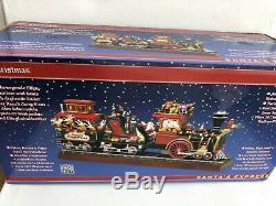 New 2018 Mr. Christmas Santa's Express Animated Train LED 20 Songs Real Smoke