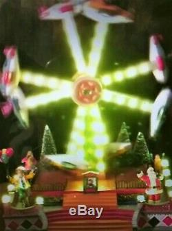 New Animated, Lights & Sound Christmas Carnival Circus Double Flying Planes Ride