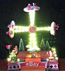New Animated, Lights & Sounds Carnival Circus Double Flying Plane Ride