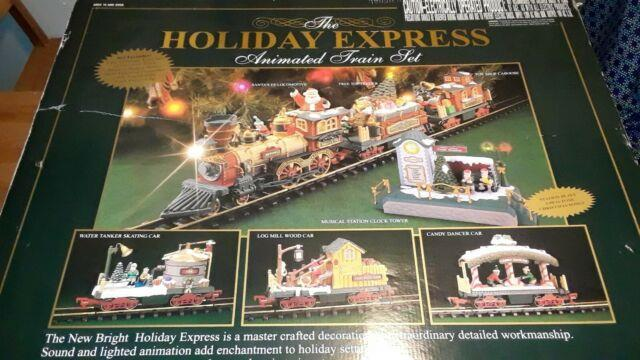 New Bright The Holiday Express Animated Train Set No 387, Read Description