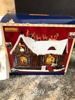 New Lemax'Twas The Night Before Christmas Santa Sleigh Reindeer Sights Sounds