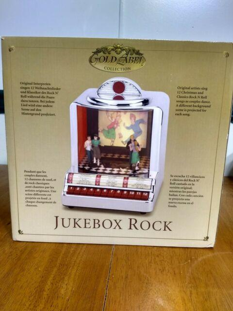 New Mr. Christmas Gold Label Jukebox Rock Musical, 12 Songs, Animated