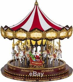 New Mr. Christmas Marquee Deluxe Christmas Carousel Holiday Decor 40 Songs 16