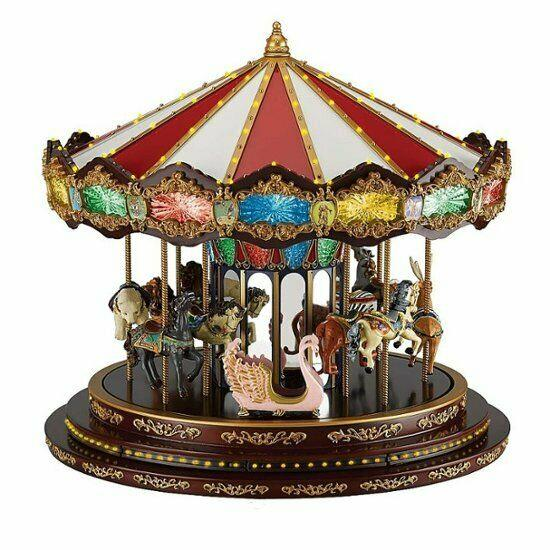 New Mr. Christmas Royal Marquee Deluxe Grand Carousel 40 Songs