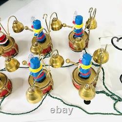 New VTG 1991 Mr Christmas Santa Marching Band Bell Ringer Animated Musical VIDEO