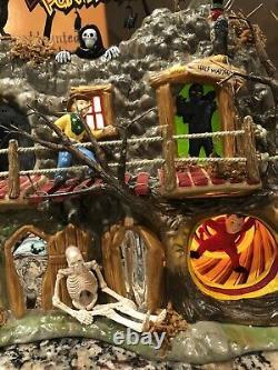 NewithDept 56 Halloween Haunted Fun House SetSnow Village Collection 2002Rare