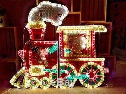 Noma Animated Motion Giant Holographic Train Engine Santa Christmas Decoration