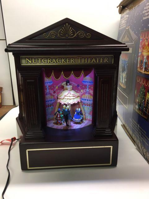 Nutcracker Theater Mr Christmas Gold Label Collection Animated Ballet Music Box