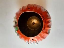 Old Vintage Halloween Tin Lithographed Jack O Lantern US Metal Toy Mfg Co 1950's