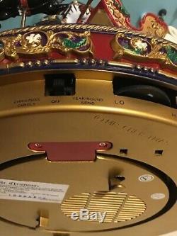 Original Classics Carousel 30 Songs Lights Up & Down 12X11 Burgundy & Gold Vtg