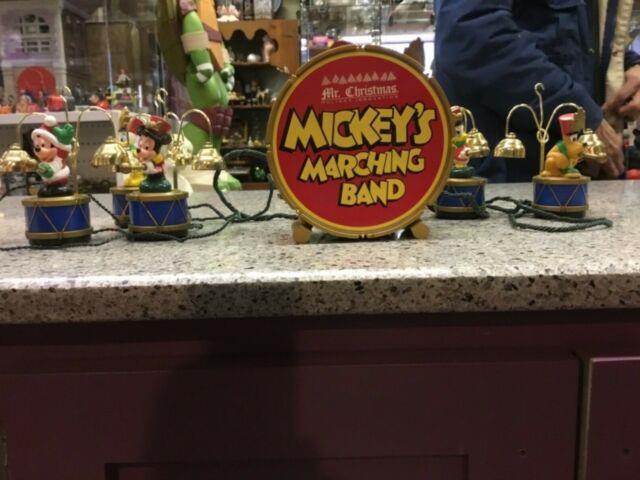 Original Vtg Mr Christmas Disney Mickeys Marching Band Musical Bells 35 Songs