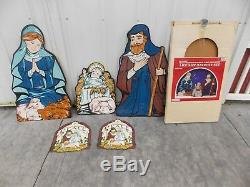 Outdoor Holiday Lawn Ornaments Life Size Nativity Set True To Nature Christmas