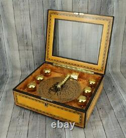 Peace on Earth Grand Bell Symphonium Wooden Musical Box Cracker Barrel