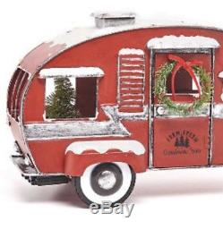 Pre Lit Red Vintage Pickup Truck / Camper Rv Christmas Metal