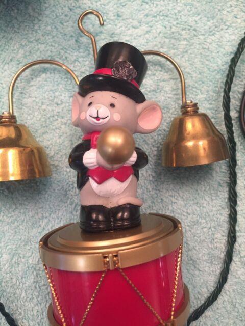 Rare 1992 Mr Christmas Santa's Marching Band Mice Top Hats 35 Songs No Box
