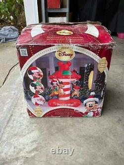 RARE 2012 Gemmy 6.3 Foot Tall Animated Mickey Carousel Airblown Inflatable