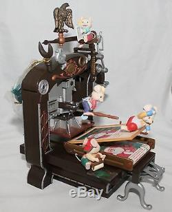 RARE CHRISTMAS Enesco Top Billing For Santa Moving Printing Press Music Box