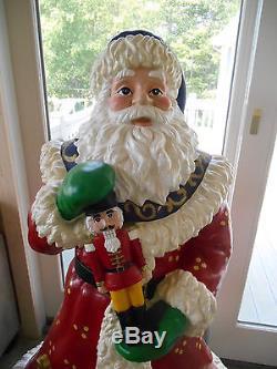 RARE Christopher Radko Large 5' Santa Statue Figure Christmas Decoration