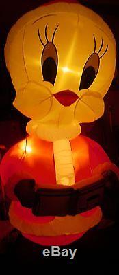 RARE Gemmy 8' Lighted Christmas LOONEY TUNES Tweety Bird Airblown Inflatable-NEW